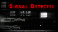 Signal detected Stock Footage