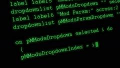 Animation writing programming code on screen. - stock footage