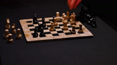 A chess game and a move with the white bishop Stock Footage