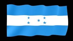Honduran flag. Waving PNG. - stock footage