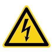 danger electricity sign - stock illustration