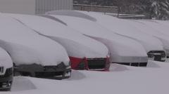Bracebridge muskoka ontario buried in deep snow after blizzard and snowstorm Stock Footage