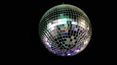 disco mirror ball center, glitter - stock footage