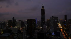 Time lapse view of Bangkok city Stock Footage