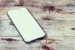 Realistic mobile phone - stock photo