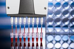 Stock Photo of Multi pipette in genetic laboratory