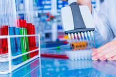 Woman in laboratory developed of vaccines Kuvituskuvat