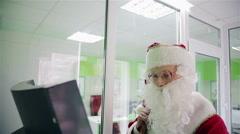 Santa Claus at Atm Stock Footage