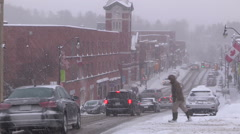 Muskoka Canada snowstorm and blizzard conditions Stock Footage