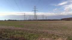 A Power Line Sweep - stock footage