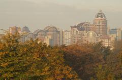 Panorama of Kiev Stock Photos