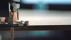 Carpenter working jigsaw - stock footage