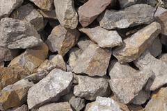 pile of stones outdoors - stock photo