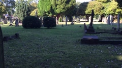 hyperlapse through graveyard - stock footage