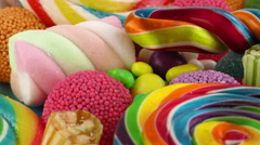 Candy Sweet Jelly Lolly and Delicious Sugar Dessert - stock footage