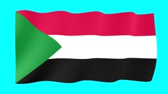 Sudanese flag .  Waving PNG. - stock footage