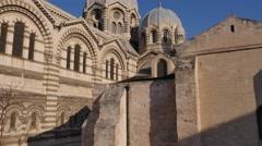 Marseille cathedral de la Major, Marseille, France by drone Stock Footage