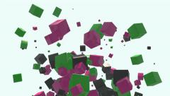 Abstract boxes - stock footage