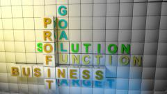 Business words oppener. Stock Footage