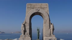 War memorial to the dead of the Armies of the Orient, Marseilles, France by Stock Footage
