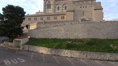 Notre Dame De la Garde cathedral Marseille, France Stock Footage
