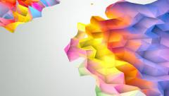 Lowpoly Abstract Background Stock Footage