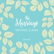 The marriage card Stock Illustration