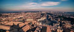 AVatican City and Rome, Italy. St. Peter's Square - stock photo