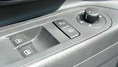 Detail of control buttons panel inside the modern car Stock Footage