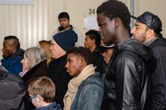 Christmas at  German refugee camp Kuvituskuvat