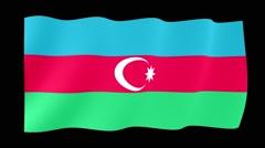 Azerbaijan flag PNG.m2ts - stock footage