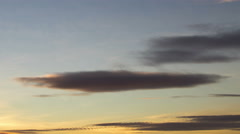 Lenticular clouds clouds at sunset 4K UHD - stock footage