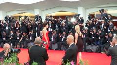 Sandra Bullock Venice red carpet - stock footage