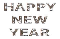 Happy New Year Chrome Stock Illustration