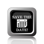 Stock Illustration of Save the date icon. Internet button on white background..