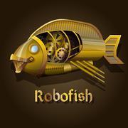Steampunk robot fish Piirros