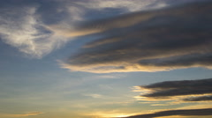 Lenticular clouds clouds at sunset 4K UHD Stock Footage