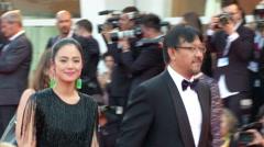 Jiang Wen red carpet - stock footage