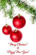 Stock Photo of Postcard for New Year and Christmas holidays, family or business greeting car