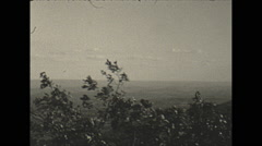 Vintage 16mm film, 1934, New Jersey, countryside, pan Stock Footage