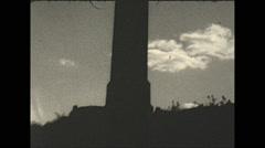Vintage 16mm film, 1934, New Jersey, High point obelisk Stock Footage