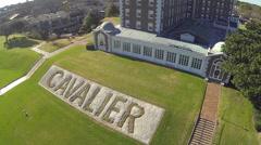 Cavalier Hotel in Virginia Beach Stock Footage
