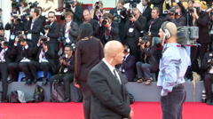 Marina Abramovich red carpet - stock footage