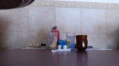 Breakfast being served Stock Footage