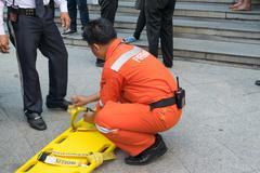 Preparedness for fire drill Kuvituskuvat