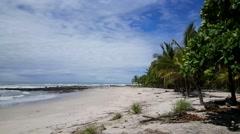 Santa teresa beach in Costa Rica Stock Footage