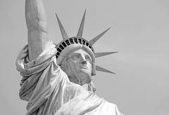 Statue of Liberty, Liberty Island, New York City - stock photo