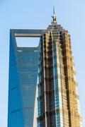 Shanghai towers Stock Photos
