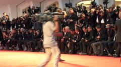John Curran red carpet Stock Footage