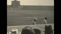 Vintage 16mm film, 1934, New Jersey, Men VIPs at baseball game Stock Footage